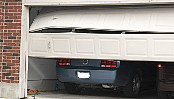 Service for when you run into your garage door